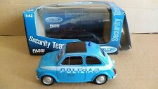 FIAT 500 POLIZIA WELLY SCALA 1/43