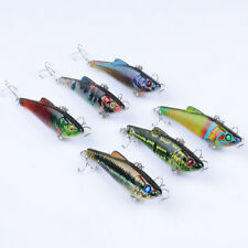 6pcs Lot Colorful VIB Bait CrankBaits Fin Tackle 8# Hooks Fishing Lures 7cm/6.6g