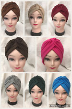 NEW TURBAN STYLE Head Wrap Head cover Hat Bandana Scarf Hair Loss Cap Chemo