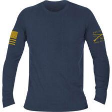Ворчун стиль базовый футболка с длинным рукавом-вереск военно-морского флота