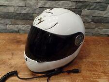 Scorpion EXO-700 Full Face Motorcycle Helmet Shield White Size Medium Nice