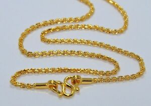 """24K Gold 24"""" NEW Chain 30g 9999 Pure Yellow Asian Baht 999 Mens Necklace Heavy"""