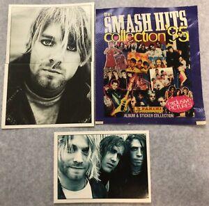 (3) 1995 Panini Smash Hits KURT KOBAIN Rookie Dave Grohl Foo Fighters NIRVANA