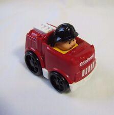 Fisher Price Little People WHEELIES FIREMAN FIRETRUCK Fire Truck Fire Man Rare!