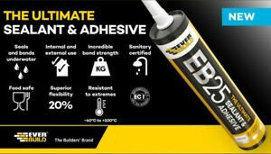 Everbuild EB25 – The Ultimate Sealant and Adhesive - 290ml - Choice of Colours