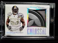 2015 MAURKICE POUNCEY Panini National Treasures Colossal Logo Patch Steelers /4
