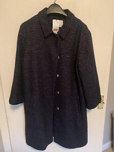 Brand New Stylish Oui Jacket- Navy Blue-size 14/designer jacket