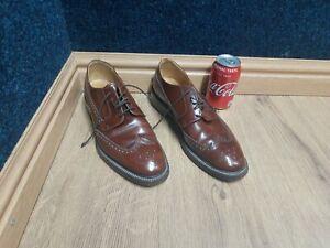 Brown Jones Harrow Brogues Shoes UK 8