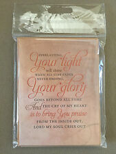Set Of 6 Encouragment Lyrics For Life Inspirational Note Cards By DaySpring, NEW