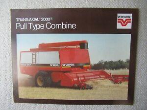 1984 Versatile 2000 pull type combine specification sheet brochure