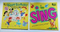 Sing & Other Sunny Songs LP Walt Disney - Disneyland Happy Birthday (Lot of 2)