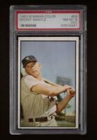 ⚾1953 BOWMAN MICKEY MANTLE #59 PSA 8 Sharp & Centered Left/Right L@@K! + 1952 RE