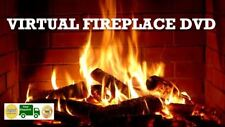VIRTUAL LOG FIRE DVD FIRE PLACE SOOTHING RELAXING STRESS SLEEP WARMTH COSY