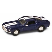 SHELBY GT 500 KR 1968 BLUE/WHITE 1:43 Yat Ming Auto Stradali Die Cast Modellino