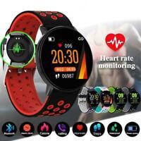 New Smart Watch Blood Pressure Heart Rate Sport Waterproof Wristband Bracel I1J2
