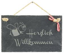 Herzlich willkommen Schild Edelrost Türschild Haustürschild Garten Deko