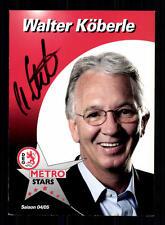 Walter Köberle Autogrammkarte DEG Metro Stars 2004/05 Original S+58442 + A 73654