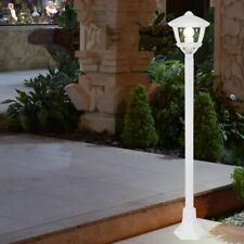 LED Außen Steh Leuchte Garten Strahler ALU Sockel Grundstück Stand Lampe weiß