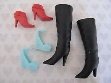 Hannah Montana Miley Cyrus Lilly Doll~Black Red Ankle Boot Sandal Shoes Lot 7