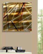 """Metal Wall Art Modern Silver Gold Black Accent Decor MAN CAVE  24""""×24"""" Jon Allen"""