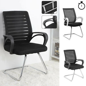 Ergonomic Visitor Mesh Office Chair Cantilever Meeting Room Conference Chair