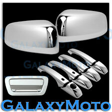 Chrome TOP Half Mirror+4 Door Handle+Tailgate Cover for 11-13 JEEP GRAND CHEROKE