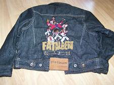 Child Size 4 Platinum FUBU Fat Albert Black Denim Jean Jacket Coat EUC