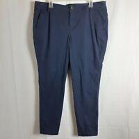 Old Navy Womens Pants Size 16R Blue Classic Navy Skinny Khaki Stretch Cotton