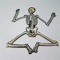 """Beistle Vintage Skeleton Jointed Halloween Die Cut Out 22"""""""