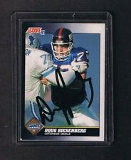 Doug Riesenberg 1991 Score signed autographed card New York Giants w/COA