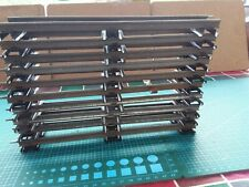 Clockwork O Gauge  10 straight rails in good condition incl stopping rail