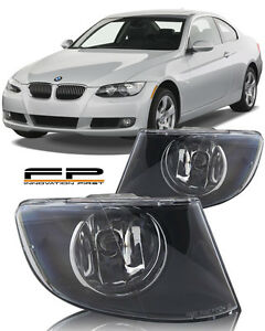 2007-2011 BMW 3 Series 328i 335i Coupe Replacement Fog Lights Housing Clear Pair