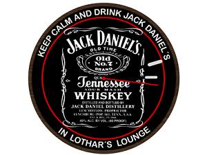 Jack Daniels Personalisierte Wanduhr 20 cm Durchmesser