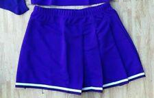 Adult Plus Size Real Purple Pleated Cheerleader Uniform Skirt 36-40 Cosplay New