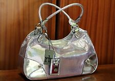 ROCCOBAROCCO Genuine Women's Silver Bag PVC Polyester Free Shipping New with Tag