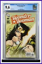 Wonder Woman #44 CGC Graded 9.6 DC July 2010 White Pages Comic Book.