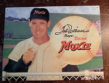 """1995 Ted Williams Says: Drink MOXIE Aluminum Sign 12x16"""""""
