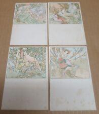ALFONS MUCHA série de 4 cartes postales les Ages de la Vie
