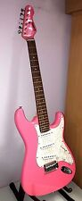 Encore Pink & White Electric Guitar