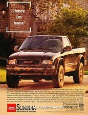 1994 GMC Sonoma Truck Original Advertisement Print Art Car Ad J667