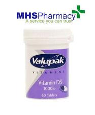 Vitamin D3 60 Tabs 1000iu treats Vitamin D deficiency Healthy bones teeth Immune