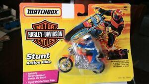 """Vintage Matchbox Harley Davidson """"Stunt Action Bike"""" Carded 1993"""