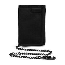 AUTHENTIC PACSAFE RFIDsafe Z50 ANTI THEFT TRI FOLD WALLET WITH CHAIN - (Black)