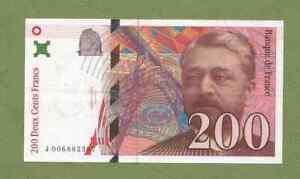 Billet FRANCE : 200 francs EIFFEL 1996