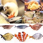 Fish Shape Interactive Toy Pet Kitten Cat Mint Play Velvet Catnip Chewing
