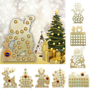 Wooden Advent Calendar Holder Holds Ferrero Rocher And Terry Chocolate Decor
