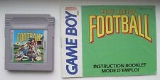 Play Action Football Nintendo Game Boy with Manual plays in Color Advance SP