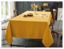Délices De Lin Tablecloth 100 Linen Golden Yellow/saffron 170cm W X 250cm L