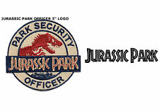 """Jurassic Park Movie Logo Park Security Officer 3"""" Iron/Sewn On Patch US Seller"""