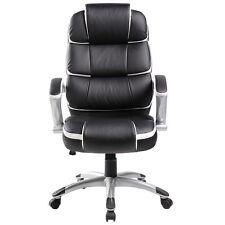 BTM Office PU Leather Swivel Home Ergonomic Executive Computer Armchair Chair Black&white